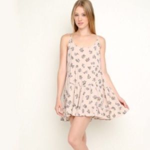 Brandy Melville Pink Floral Jada Dress